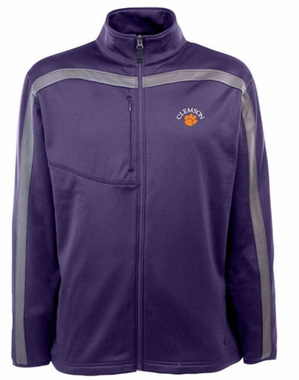 Clemson Mens Viper Full Zip Performance Jacket (Team Color: Purple)