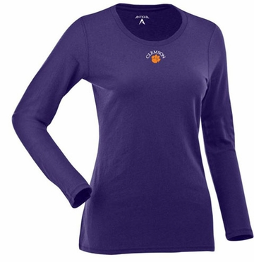 Clemson Womens Relax Long Sleeve Tee (Team Color: Purple)