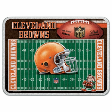 Cleveland Browns 11 x 15 Glass Cutting Board
