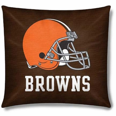 Cleveland Browns 15 Inch Applique Pillow