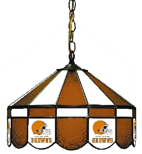 Cleveland Browns 16 Inch Diameter Stained Glass Pub Light