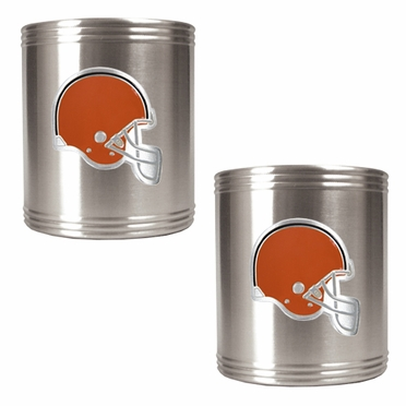 Cleveland Browns 2 Can Holder Set