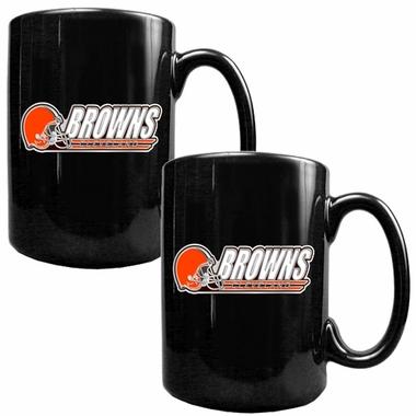 Cleveland Browns 2 Piece Coffee Mug Set (Wordmark)
