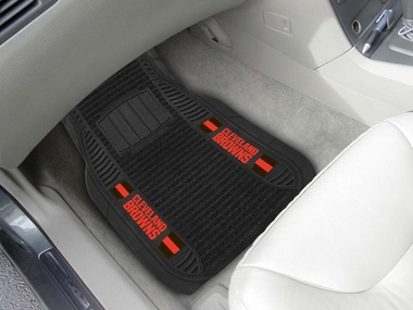 Cleveland Browns 2 Piece Heavy Duty DELUXE Vinyl Car Mats