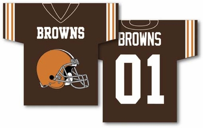Cleveland Browns 2 Sided Jersey Banner Flag (F)
