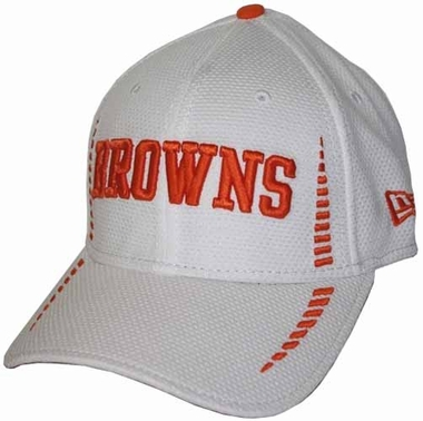 Cleveland Browns 39THIRTY 2012 Official Training Flex Fit Structured White Hat