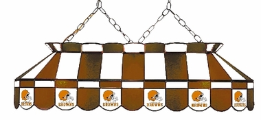Cleveland Browns 40 Inch Rectangular Stained Glass Billiard Light