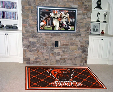 Cleveland Browns 5 Foot x 8 Foot Rug