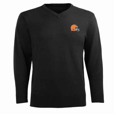 Cleveland Browns Mens Ambassador Sweater (Team Color: Black)