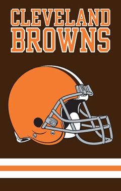 Cleveland Browns Applique Banner Flag