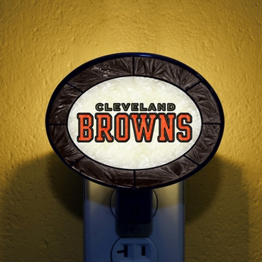 Cleveland Browns Art Glass Night Light