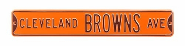 Cleveland Browns Ave Street Sign