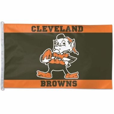 Cleveland Browns Big 3x5 Flag (Throwback)