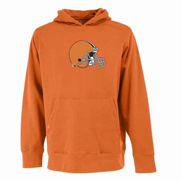 Cleveland Browns Big Logo Mens Signature Hooded Sweatshirt (Alternate Color: Orange)