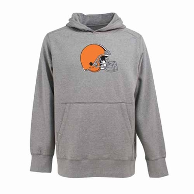 Cleveland Browns Big Logo Mens Signature Hooded Sweatshirt (Color: Gray)