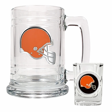 Cleveland Browns Boilermaker Set