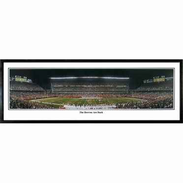 Cleveland Browns - Browns Are Back Framed Panoramic Print