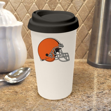 Cleveland Browns Ceramic Travel Cup