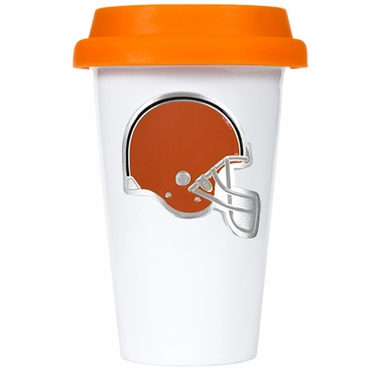 Cleveland Browns Ceramic Travel Cup (Team Color Lid)