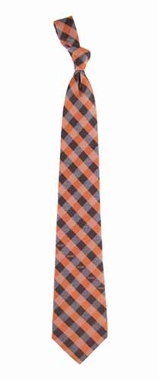 Cleveland Browns Check Poly Necktie