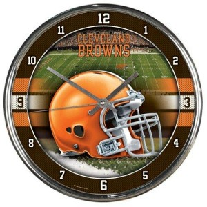 Cleveland Browns Chrome Clock