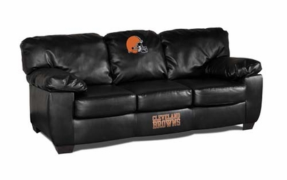 Cleveland Browns Leather Classic Sofa