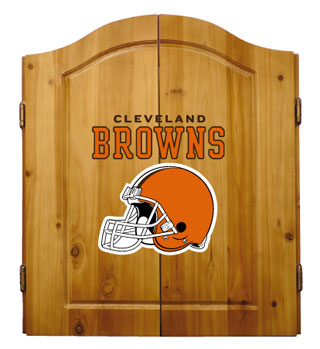 Cleveland Browns Complete Dart Cabinet