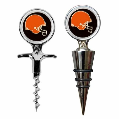 Cleveland Browns Corkscrew and Stopper Gift Set