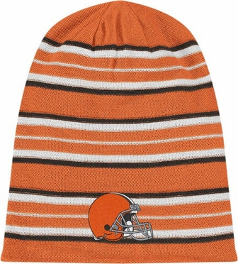 Cleveland Browns Cuffless Reversible Long Knit Hat