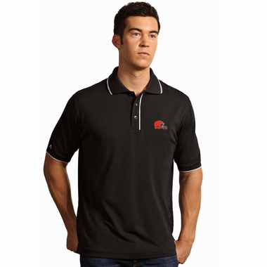 Cleveland Browns Mens Elite Polo Shirt (Color: Black) - Large
