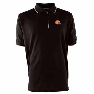 Cleveland Browns Mens Elite Polo Shirt (Team Color: Brown) - X-Large