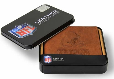 Cleveland Browns Embossed Leather Bifold Wallet