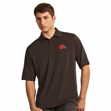 Cleveland Browns Mens Exceed Polo (Color: Brown)