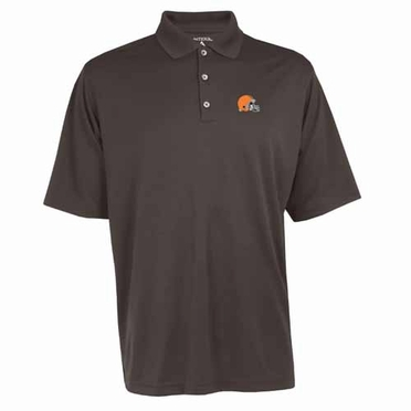 Cleveland Browns Mens Exceed Polo (Team Color: Brown)