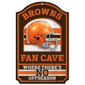 Cleveland Browns Fan Cave Wood Sign