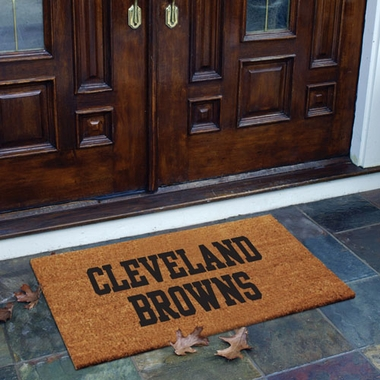 Cleveland Browns Flocked Coir Doormat