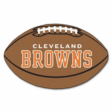 Cleveland Browns Football Shaped Rug