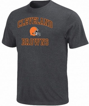 Cleveland Browns Heart & Soul II Charcoal T-Shirt