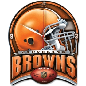 Cleveland Browns High Definition Wall Clock