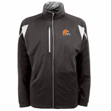 Cleveland Browns Mens Highland Water Resistant Jacket (Team Color: Brown)