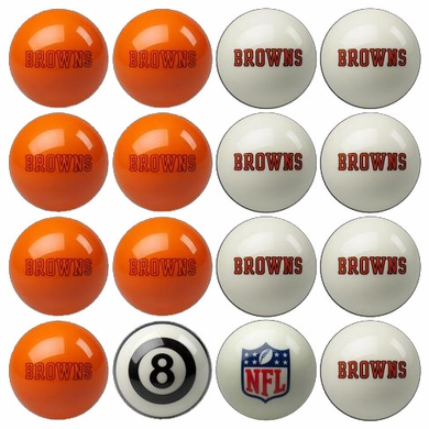 Cleveland Browns Home and Away Complete Billiard Ball Set