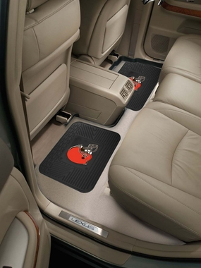 Cleveland Browns SET OF 2 Heavy Duty Vinyl Rear Car Mats