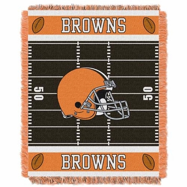 Cleveland Browns Jacquard BABY Throw Blanket