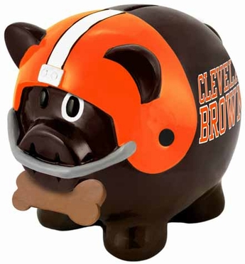 Cleveland Browns Large Thematic Piggy Bank