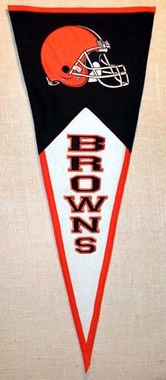 Cleveland Browns Large Wool Pennant