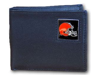 Cleveland Browns Leather Bifold Wallet (F)
