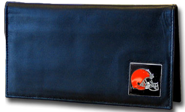 Cleveland Browns Leather Checkbook Cover (F)
