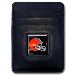 Cleveland Browns Leather Money Clip (F)