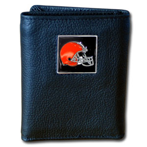 Cleveland Browns Leather Trifold Wallet (F)