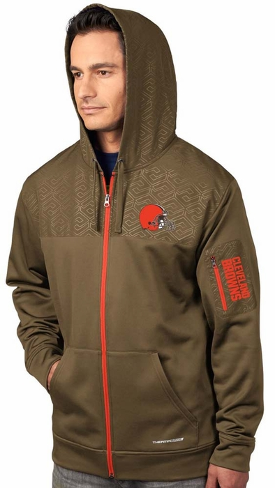 Cleveland Browns Majestic Action Men's F/Z Therma Base Hooded ...